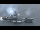 Артиллерийские стрельбы по водным и воздушным мишеням кораблей Балтийского флота
