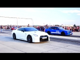 NISSAN GTR-R35 700HP vs BMW M5 E34 TURBO