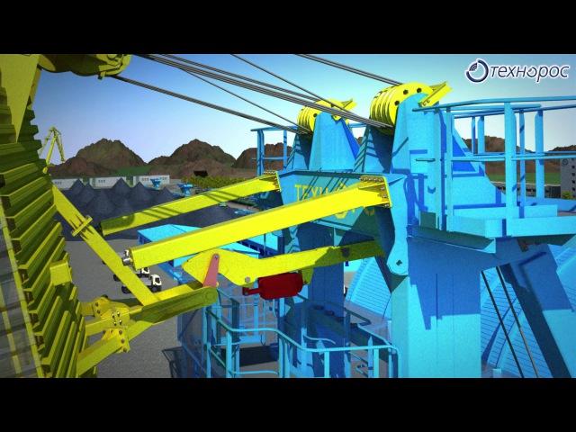 Судопогрузочный комплекс Видеографика в 3D