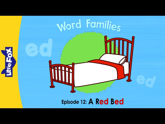 Word Families 12: A Red Bed | Level 1 | By Little Fox