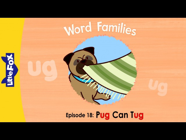 Word Families 18 Pug Can Tug | Level 1 | By Little Fox