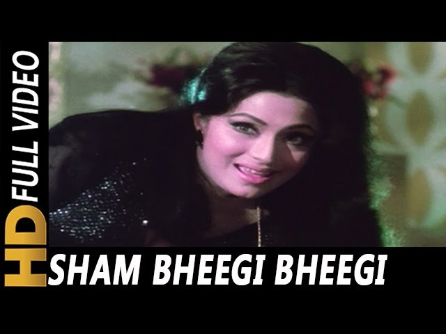 Sham Bheegi Bheegi | Asha Bhosle | Gehri Chaal 1973 | Amitabh Bachchan, Jeetendra, Hema Malini