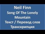 Neil Finn - Song Of The Lonely Mountain (текст, перевод и транскрипция слов)