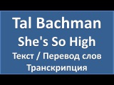 Tal Bachman - She's So High (текст + перевод и транскрипция слов)