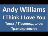 Andy Williams - I Think I Love You (текст + перевод и транскрипция слов)