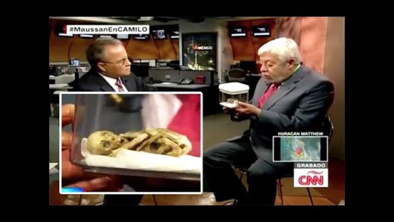 Maussan presenta Cuerpo de Alien en CNN y Científicos lo Respaldan
