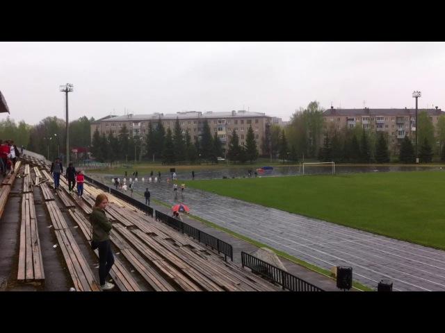 Чемпионат города Рыбинск 20-21 мая 2017. Финальный забег среди мужчин на 100 метров.