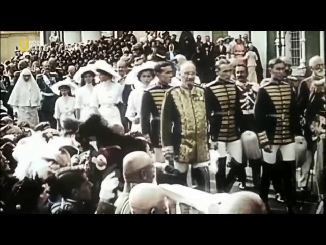 Царь Романов Николай 2 .Уникальная цветная кинохроника: Николай 2 и его семья !