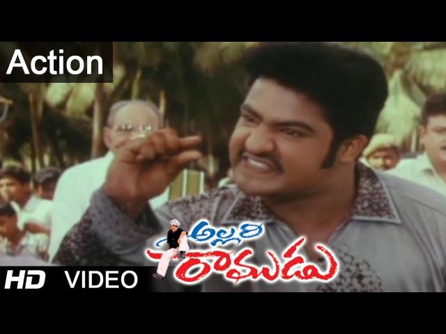 Allari Ramudu Movie Scenes | Action Between Jr. N.T.R Jaya Prakash Reddy
