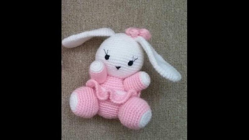 (Amigurumi ) Örgü Oyuncak Sevimli Tavşan Yapımı 4 (Crochet Amigurumi Cute Rabbit 4)