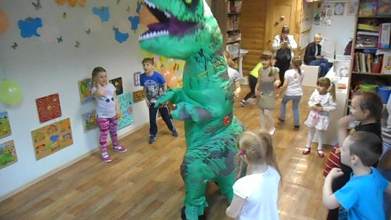 танцы с динозавром - детская дискотека 6-9 лет
