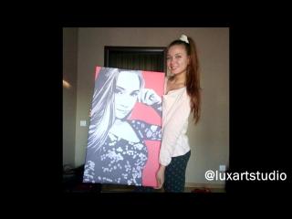 Как рисуют портреты по фотографии в студии LuxArt