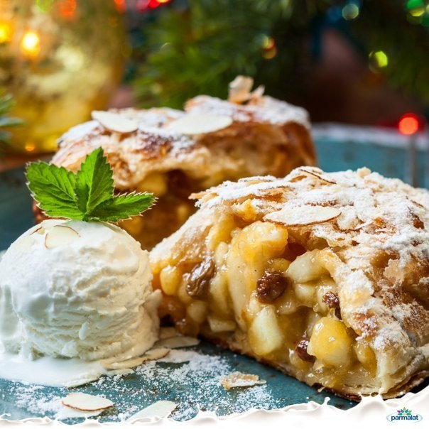 В Чехии и Словакии новый год не обходится без ароматного национального десерта – яблочного штруделя.  Ингред...