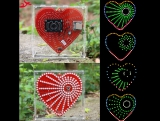 zirrfa New mp3 music player heart-shaped lights cube,Music spectrum kit ,led electronic diy kit