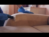 Как делается химчистка мягкой мебели (дивана) на дому. 1 минута