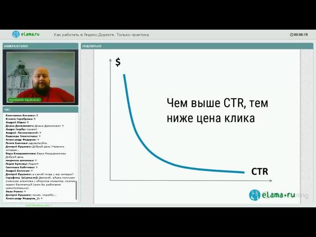 ELama.ru: Как работать в Яндекс.Директе. Только практика от 12.05.2016