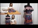 Как пошить Летнее Платье - Сарафан с Воланом! Сшиваем все детали Платья часть 2