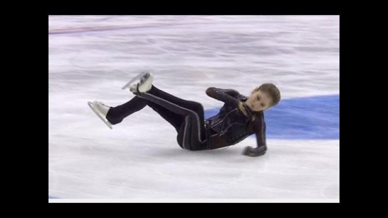 Юлия Липницкая Травма ноги на Кубке Ростелеком 2016