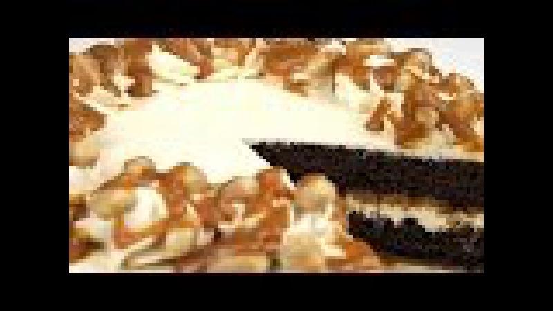 Торт Сникерс с соленой карамелью и супер шоколадными коржами Пошаговый рецепт