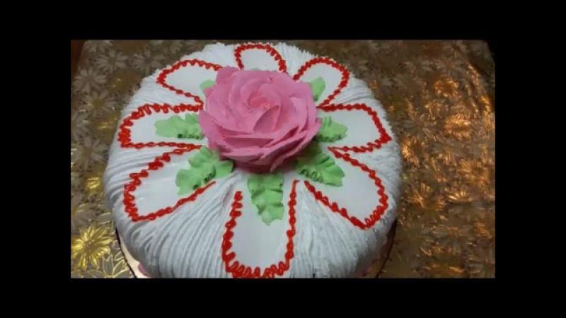 Торт рецепт МЕДОВОГО бисквита со сметано шоколадным кремом Украшение торта СЛИ ...