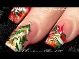 No Water Needed   3 Different Christmas Drag Marble Nail Art Designs!
