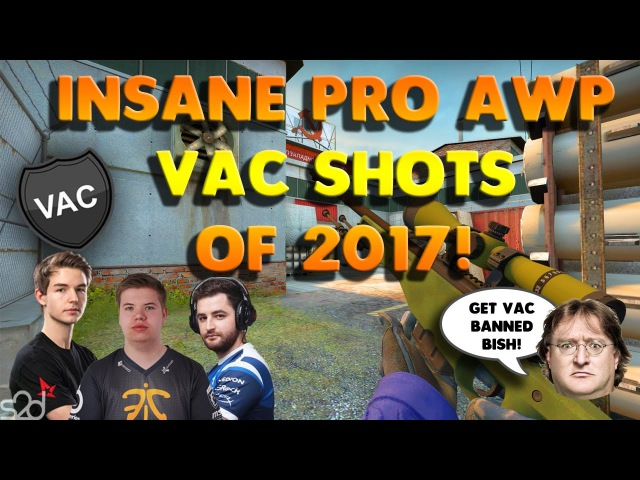 THE BEST PRO AWP VAC SHOTS OF 2017 - CS:GO (Wallbangs, Flickshots, Collaterals)