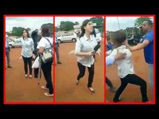 Repórter se Irrita após ser Xingada, e parte pra Briga - Uma Sr ª Mandou ela pra P$%#TA que PARIU
