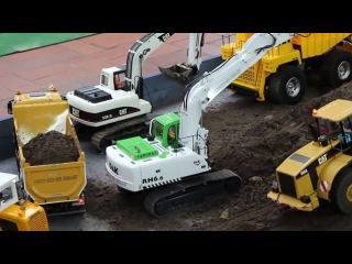 Video for Kids The Excavator Construction Trucks Diggers for children