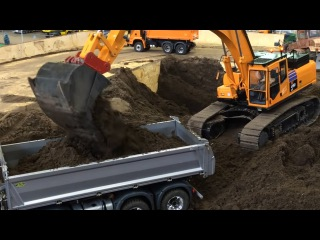 Toys Trucks For Kids Diggers Cartoons The Excavator Construction Trucks Video for children