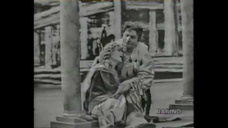 Дуэт Джильды и Риголетто - Virginia Zeani / Aldo Protti - Tutte le feste al tempio - Si, vendetta - Verdi, Rigoletto, 1955