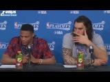 Russell Westbrook &amp Steven Adams Interview  Rockets vs Thunder  G4  April 23, 2017  NBA Playoffs