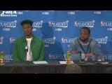 Dwyane Wade &amp Jimmy Butler Interview  Celtics vs Bulls  Game 3  April 21, 2017  NBA Playoffs