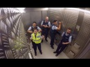 NZ police prove they're 'not your typical beat cops' with elevator jam session