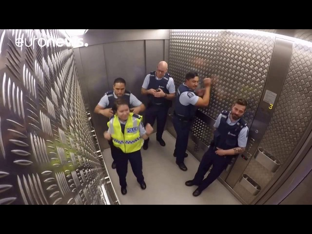 NZ police prove theyre not your typical beat cops with elevator jam session