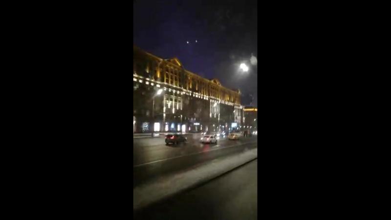 Прощай Москва - встречай Гродно. Ночная Москва.