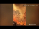 """This couple faced a """"wall of fire"""" in Hudson, Florida while driving through a wildfire Monday"""
