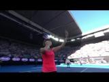 Australian Open 2017. Мирьяна Лючич-Барони прощальное селфи на корте