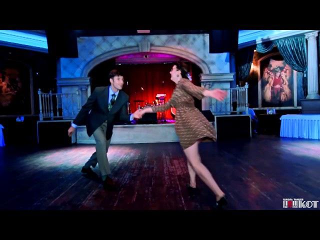 Lindy-Hop Performance Aleksey Kazenov Natalia Borisenko @ 6th Anniversary Dance School Shtrih-Kot