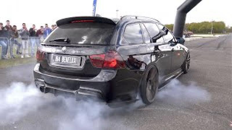 900HP BMW 335i (E91) - CRAZY REVS BURNOUT!