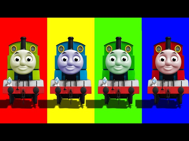 Learn Colors with Thomas and Friends Funny Face Swap Wrong Heads Finger Family Nursery Toy Train