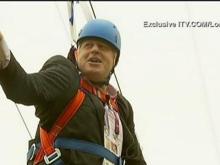 Boris Johnson gets stuck on a zip wire (long version)