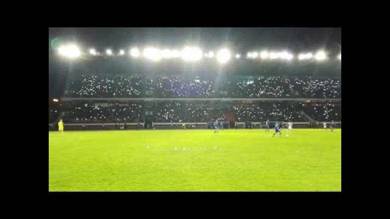 Starry sky on the stadium in Brest