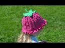 Шляпка панамка крючком Вяжем плодоножку Hat panama crochet Knit stalk