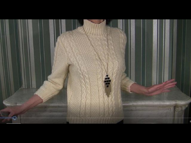 ПРОСТОЙ и ТЕПЛЫЙ свитер спицами 2 варианта рукавов Описание свитера 1 МК