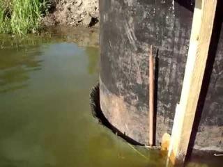 Мембрана-перекат очистки воды на оз Пионерское