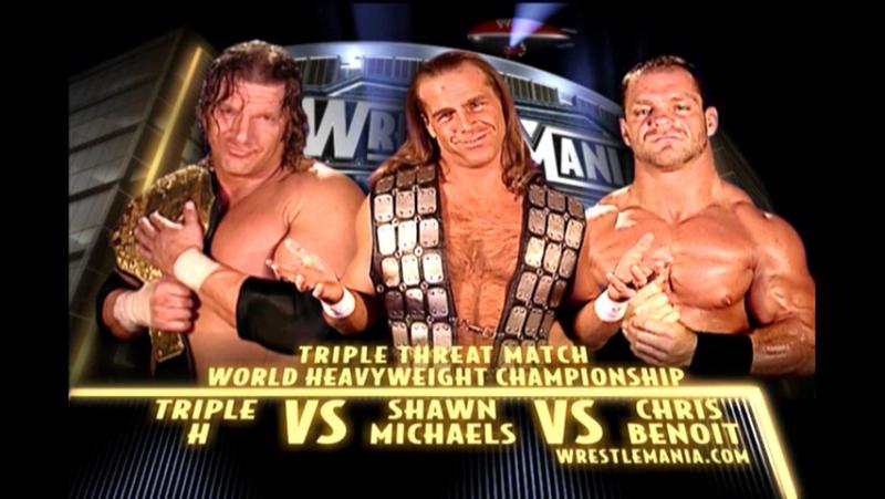 WrestleMania 20 - Shawn Michaels vs. Triple H vs. Chris Benoit