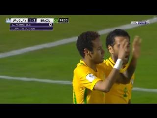 Уругвай - Бразилия 1:3 Неймар