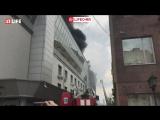 В центре Москвы горит бизнес-центр на Крымском валу