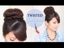 Twisted Sock Bun Updo Hairstyle   Long Hair Tutorial