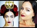 Dolce Gabbana Spring/Summer 2015 Makeup Trend Dark Red Lips Cat Eyeliner